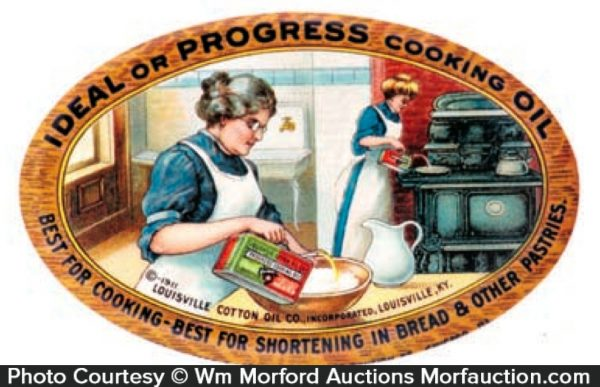 Louisville Ideal Or Progress Cooking Oil Mirror