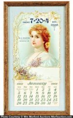 Sullivan 7-20-4 Cigars Calendar
