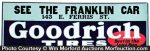 Franklin Goodrich Tires Sign