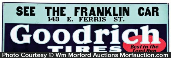 Franklin Goodrich Tires Sign