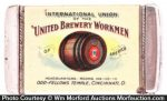 United Brewery Union Match Safe