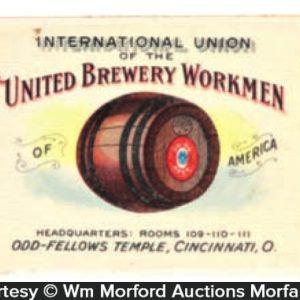 United Brewery Union Match Safe