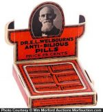 Welbourn's Anti-Bilious Pills Display