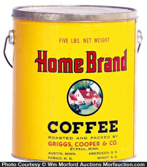 Antique Advertising Home Brand Coffee Pail Antique