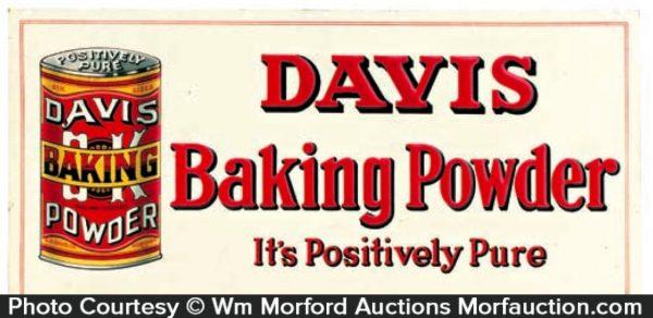 Davis Baking Powder Sign