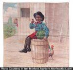 Black Kid Watermelon Pillow Cover