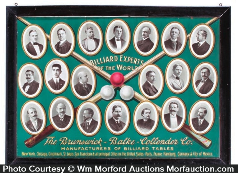 Brunswick Billiard Experts Sign