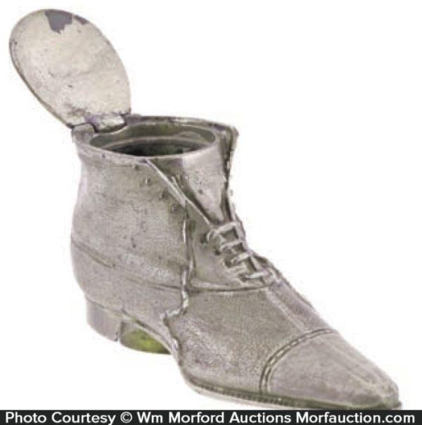 Vintage Shoe Inkwell