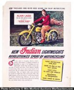 Indian Motorcycle Alan Ladd Poster