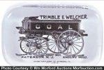 Trimble & Welcher Coal Wagon Paperweight