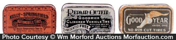 Vintage Tire Patch Tins
