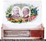 Harrison and Morton Political Cigar Box