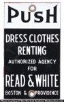 Read & White Door Push