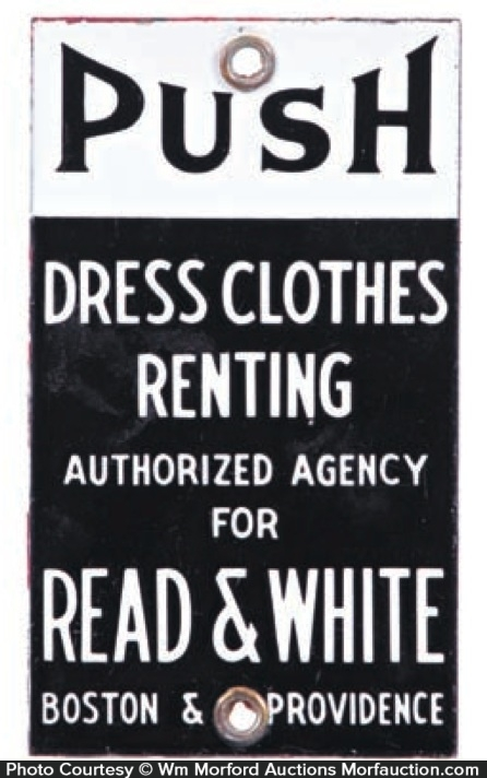 Read & White Door Push