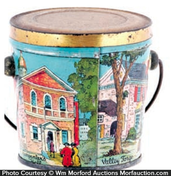 Historical Buildings Candy Pail