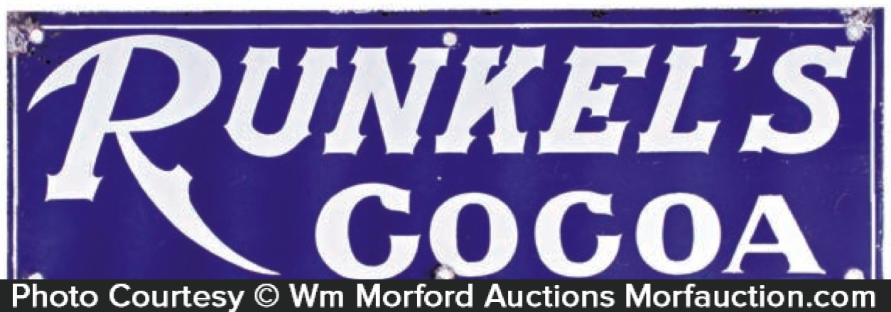 Runkel's Cocoa Sign