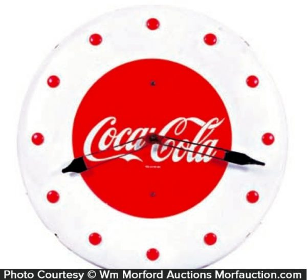 1948 Button Coca-Cola Clock