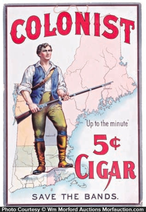 Colonist Cigar Sign
