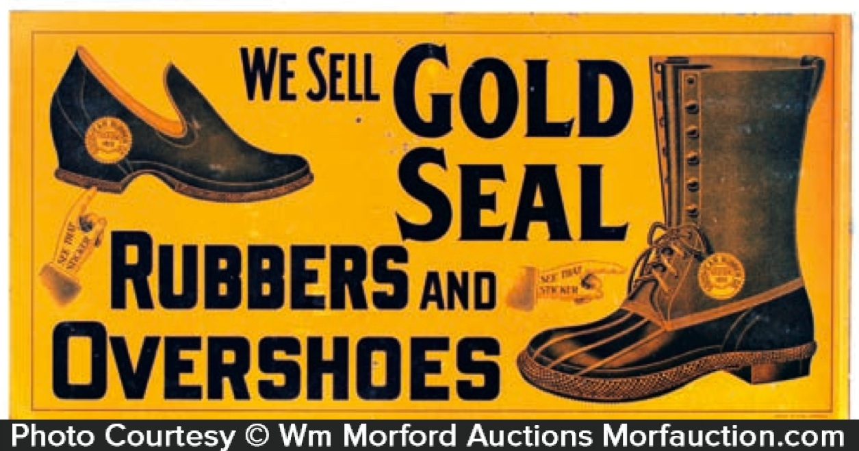 Gold Seal Boots Sign