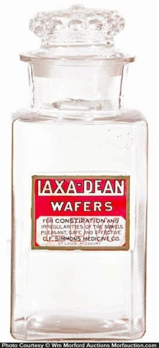 Lax-A-Dean Wafers Jar