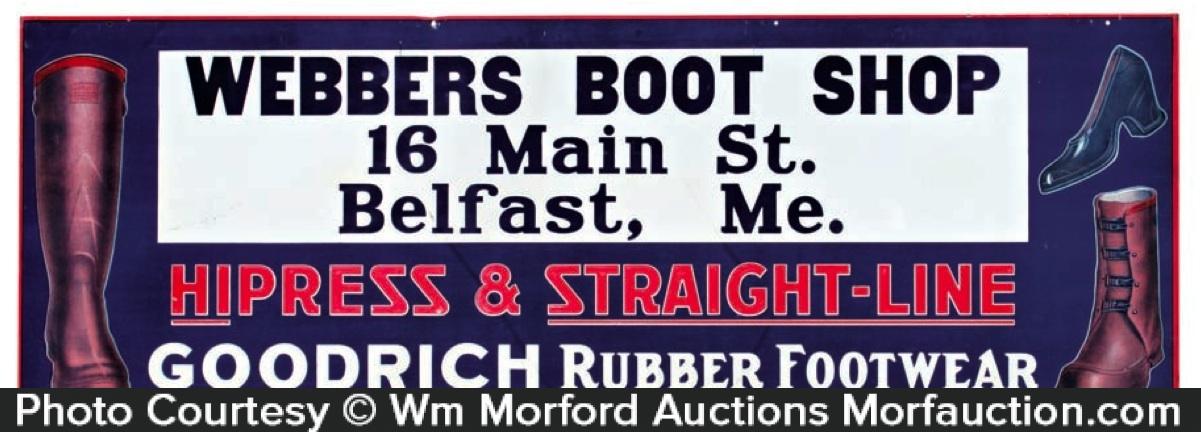 Goodrich Boots Sign