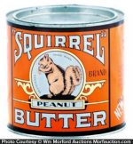 Squirrel Peanut Butter Tin