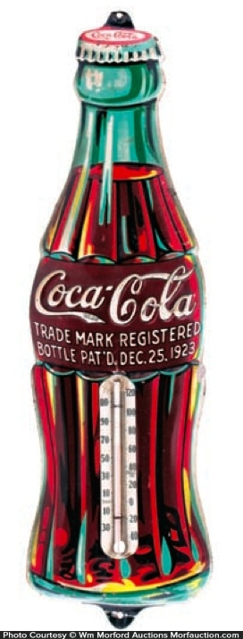 Coca-Cola Christmas Bottle Thermometer