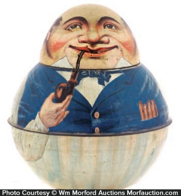 Mayo's Tobacco Store Keeper Roly Poly Tin