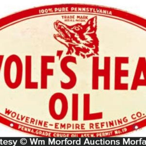 Wolf's Head Oil Sign
