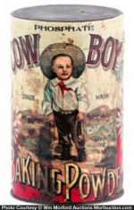 Cow Boy Baking Powder Tin