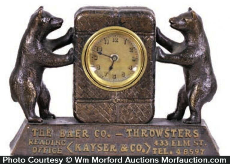 Baer Throwsters Clock