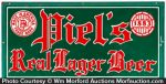Piel's Lager Beer Brewing Sign