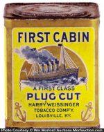 First Cabin Tobacco Tin