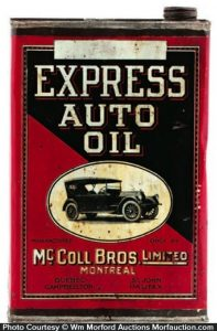 Antique Advertising Express Auto Oil Can Antique