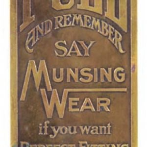 Munsing Wear Underwear Door Push