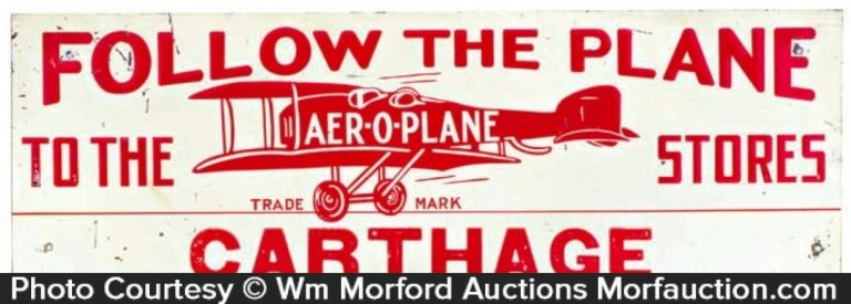 Aer-O-Plane Stores Wooden Sign
