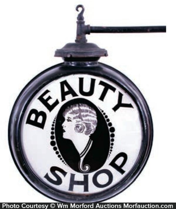 Beauty Shop Glass Sign