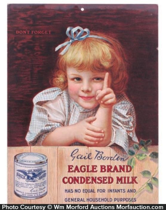 Eagle Condensed Milk Sign