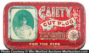 Gaiety Pipe Tobacco Tin
