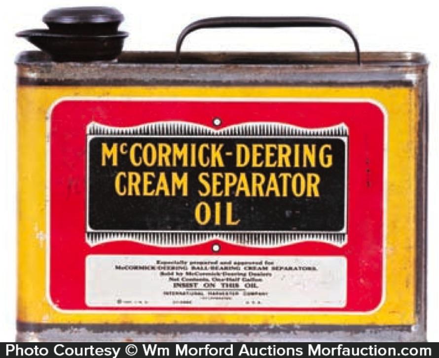Mccormick Deering Cream Separator Oil Tin