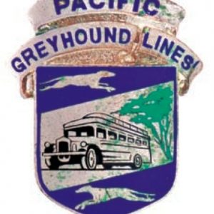Pacific Greyhound Cap Badge