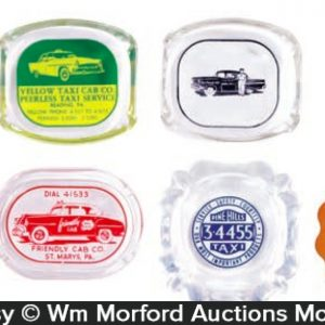 Antique Taxi Ashtrays
