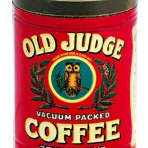 Old Judge Coffee Tin