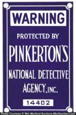 Pinkerton Detective Sign