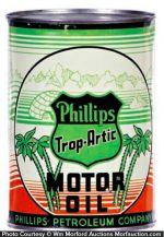 Phillips Trop-Artic Motor Oil Can