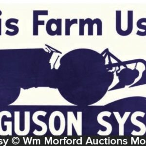 Ferguson System Tractors Sign