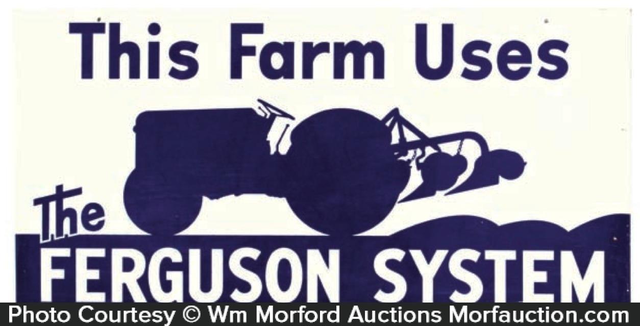 Ferguson System Tractors Sign