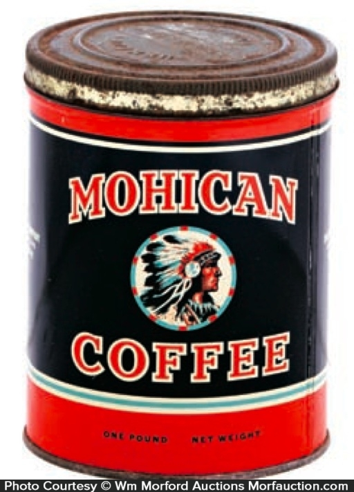 Mohican Coffee Tin