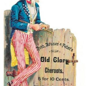 Old Glory Cheroots Cigar Sign