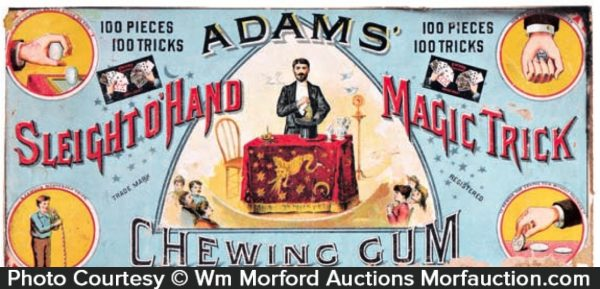 Adams Gum Magic Trick Box